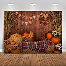 Mocsicka Fall Harvest Backdrop 7x5ft Rustic Wood Barn Haystack Pumpkin Party Photo Studio Prop Thanksgiving Day Fall Party Photography Backdrops