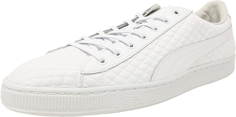 Puma BasketxMeek Bike Life Men Round Toe Canvas White Sneakers