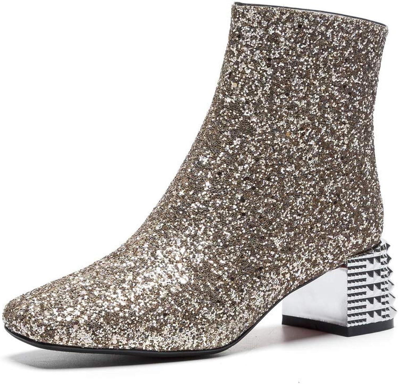 AdeeSu Womens Dance-Ballroom Studded Glitter Urethane Boots SXE04751