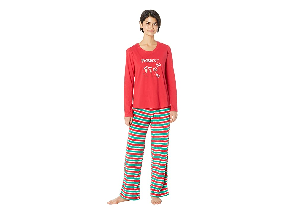 Karen Neuburger Drink Up Grinches Family Long Sleeve PJ Set (Candy Cane Stripe) Women