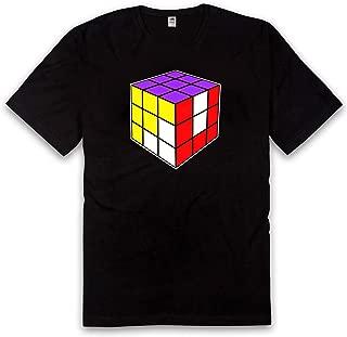 Vice 51 Rubiks Cube, Hidden Message, Colorful Magic Cube T Shirt, Black Cotton