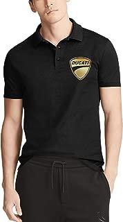 Mens Casual Polo T Shirts Cool Band Ducati-3D-effect-flag-jacket- Fashion Work Uniform Urban