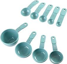 KitchenAid KC475OHAQA 9-Piece Measuring Cup and Spoon Set, Aqua Sky