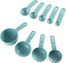 KitchenAid 9-Piece Measuring Cup and Spoon Set, Aqua Sky