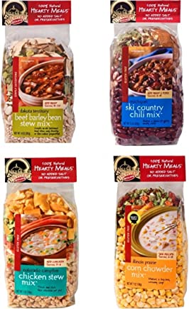 4 Frontier Soups Hearty Meals for Winter: Illinois Prairie Corn Chowder Mix, Colorado Campfire