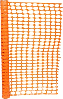 BISupply | 4 FT Safety Fence – 50 FT Plastic Fencing Roll for Construction Fencing Pet Fencing and Event Fencing, Orange