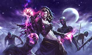 HiddenSupplies.com Liliana Zombies Magic The Gathering Playmat TCG Gaming Mat 24 x 14 Inch
