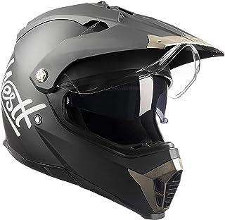 Westt Cross Motocross Integralhelm Doppelvisier - Matt schwarz - Motorradhelm Roller - ECE Zertifiziert