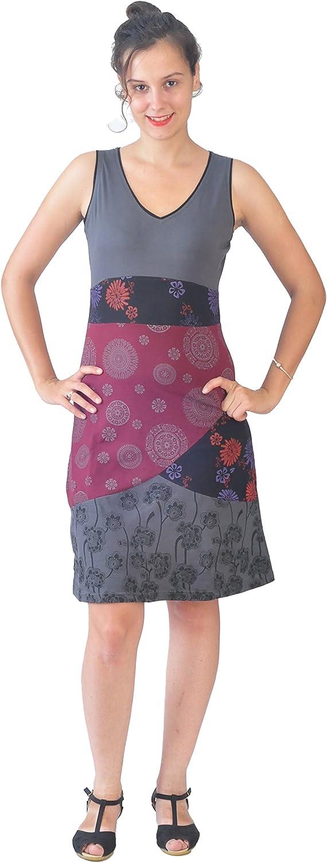 TATTOPANI Womens Sleeveless Cotton Summer Dress Mandala Pattern Sun Dress