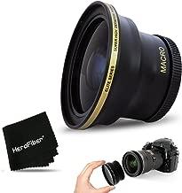 PRO 58MM Fisheye Lens for Canon EOS 80D, 70D, 60D, 7D Mark II, 6D, 5D Mark III, EOS Rebel T7i, T6i, T6S, T6, T5, T5i T4i T3, EOS 1300D, 1200D, 1100D EOS 760D, 750D, 700D DSLR Cameras and 58mm Lenses