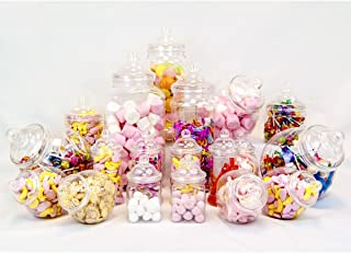 Jars2u - Juego de 19 tarros surtidos de plástico