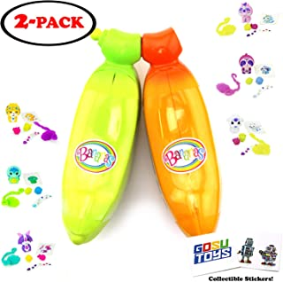 Bananas Collectible Toy 2-Pack Assorted Colors Scented (Styles Inside Each May Vary) with 2 GosuToys Stickers