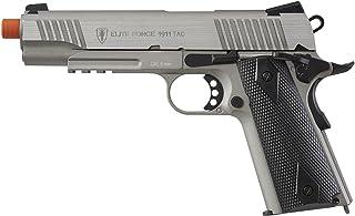 Elite Force 1911 Blowback 6mm BB Pistol Airsoft Gun, 1911 TAC, Silver/Black