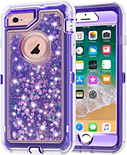 Anuck iPhone 6S Case, iPhone 6 Case, 3 in 1 Hybrid Heavy Duty Defender Case Sparkly Floating Liquid Glitter Protective Har...