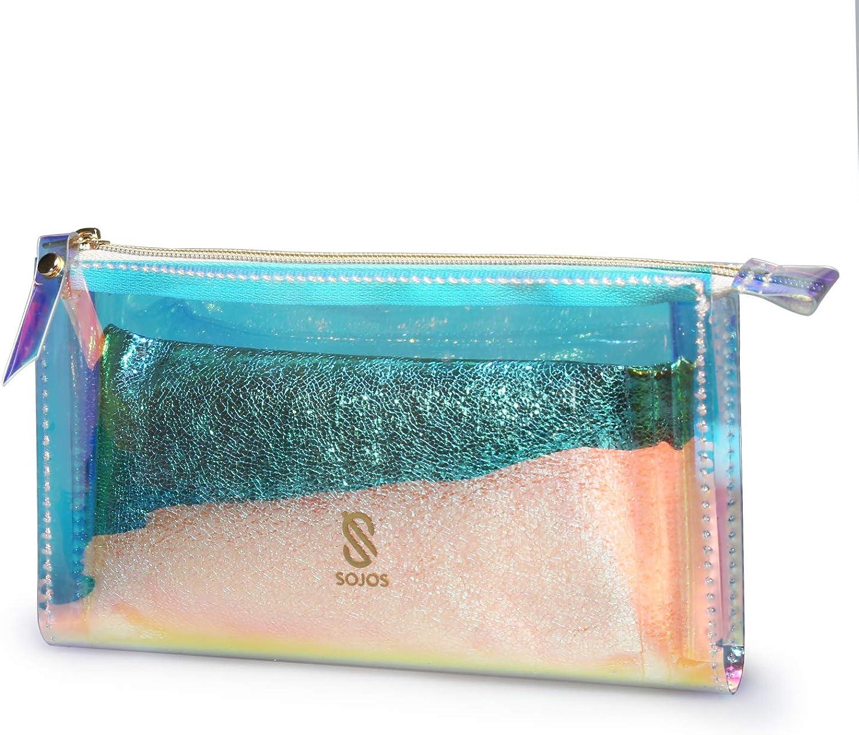 SOJOS Fashion Gold PVC Pouch Sunglasses Case Bag Eyewear Glasses PU Bag SA508