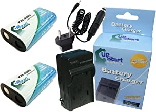 2 Pack - Replacement for Kodak Easyshare Z1012 is Battery + Charger with Car & EU Adapters - Compatible with Kodak KLIC-8000 Digital Camera Battery and Charger (2000mAh 3.7V Lithium-Ion)