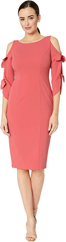 Crepe Midi Long Sleeve with Tie Detail
