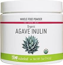 Nubeleaf Agave Inulin Powder - Non-GMO, Gluten-Free, Raw, Organic, Vegan Natural Sweetener - Single-Ingredient Nutrient Rich Superfood for Cooking, Baking, Smoothies (5oz Jar)
