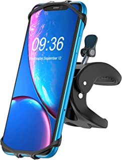 BOVON Bike Phone Mount, 360°Rotation Universal Premium Silicone Phone Holder for Bicycle, Motorcycle Handlebars, Fits for iPhone Android Smartphones (4.5''-6.0'')