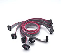 Antrader 60CM 10Pin USB ASP ISP JTAG AVR Wire 10P IDC Flat Ribbon Data Cable 2.54mm Connector 6 Pieces
