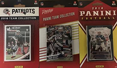 New England Patriots 3 Factory Sealed Team Set Gift Lot Including 2018 Donruss, 2017 Prestige and 2016 Panini Team Sets Featuring Tom Brady, Rob Gronkowski, Julian Edelman, Sony Michel Rookie Card Plus