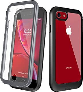 EONFINE Clear Designed for iPhone 7 Case/iPhone 8 Case, Full-Body Heavy Duty Protection with Built-in Screen Protector Rugged Armor Cover Clear Shockproof Case for iPhone 7/iPhone 8 4.7inch