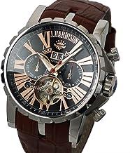 [ジョン・ハリソン]John Harrison ビッグテンプ付マルチファンクション自動巻&手巻き メンズ腕時計 J.H-033PB