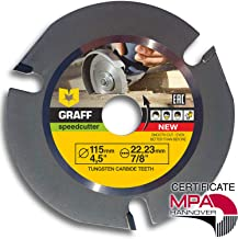 Grinder Wood Carving Disc GRAFF Speedcutter 4-1/2-Inch, TCT Circular Saw Blade for Angle..