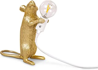 Seletti Mouse Lamp Gold Step Standing