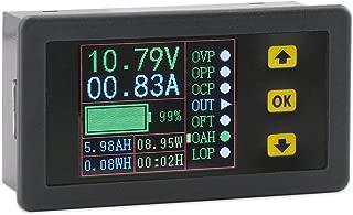 DROK Digital Multimeter Charge-Discharge Battery Tester, LCD Color Screen Voltmeter Ammeter DC 0-90V 0-20A Volt Amp Watt Time Capacity Electricity Meter Monitor