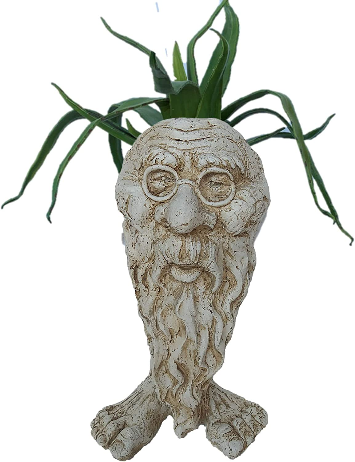 Muggly Great Grandpa RIP Planter Pot Max 49% 70% OFF Outlet OFF Statue Garden Patio Face