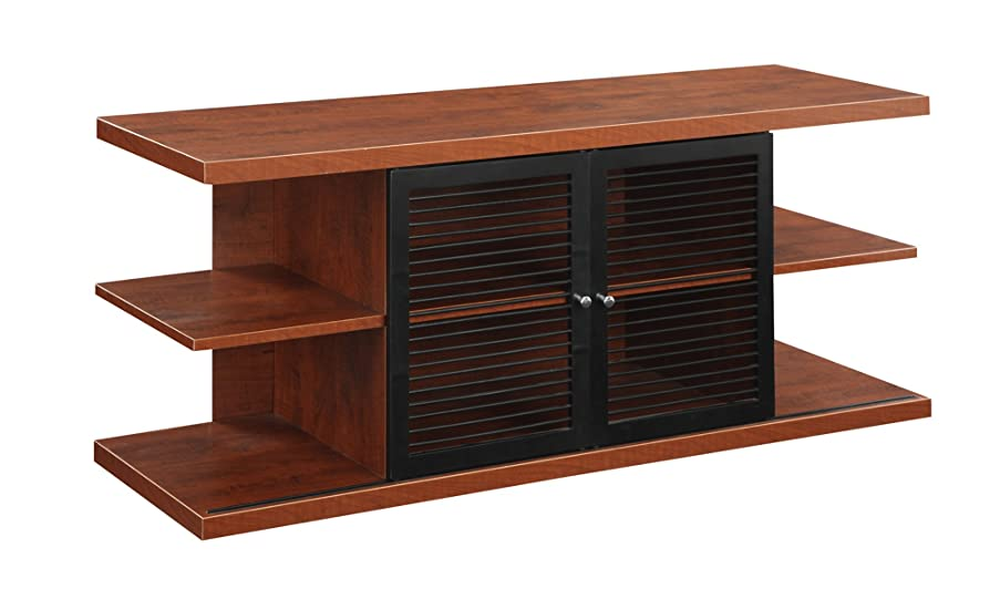 Convenience Concepts Designs2Go East Hampton TV Stand, Cherry and Black