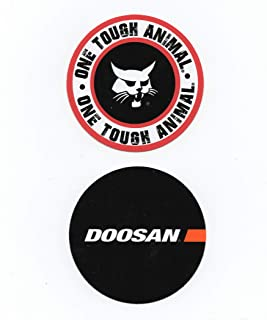 Doosan/Bobcat Sticker Bundle: Hardhat Stickers/Decals, Value Pack. Great for the Roughneck, Oil Worker, Construction Worker. Looks great on a Helmet, Lunchbox, or Toolbox.
