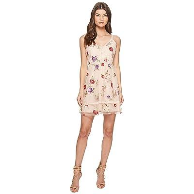 BB Dakota Gemma Embroidered Fit and Flare Dress (Pink Lemonade) Women
