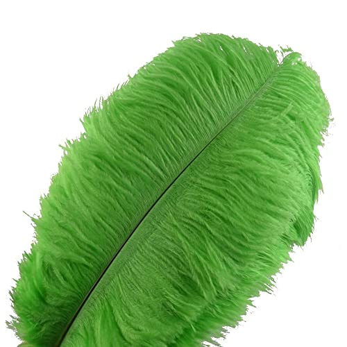 HAND DU08 Emerald Green Double Layer Rooster Feather 6 inches//w appx 2 meters
