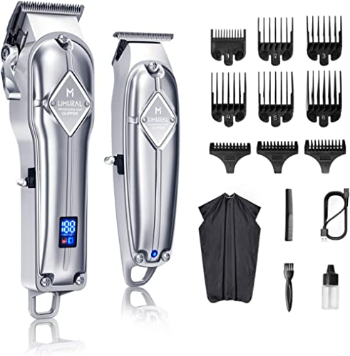Limural Hair Clippers for Men + Cordless Close Cutting T-Blade Trimmer Kit, Professional Hair Cutting Kit Beard Trimm...