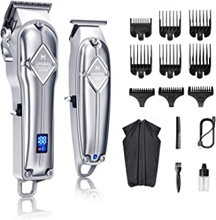 Limural Hair Clippers for Men + Cordless Close Cutting T-Blade Trimmer Kit, Professional Hair...