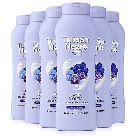 Tulipán Negro Gel De Baño Sweet Violeta Pack Uds X 720 Ml, 6 Unidad