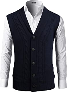 Best shawl collar knit vest Reviews