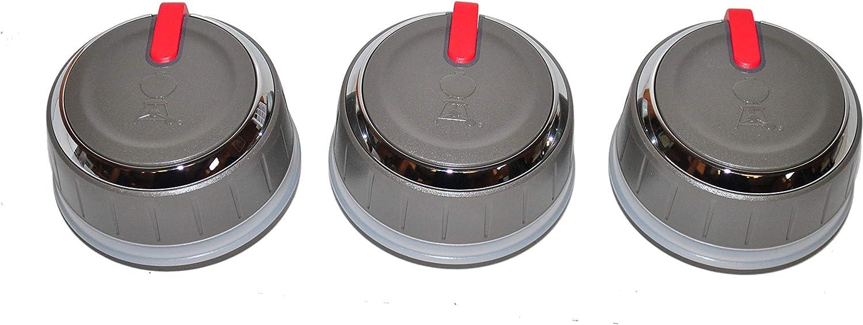 Weber 66753 3pk Control Knobs for Genesis 5 ☆ very popular Series Luxury Grills LX II