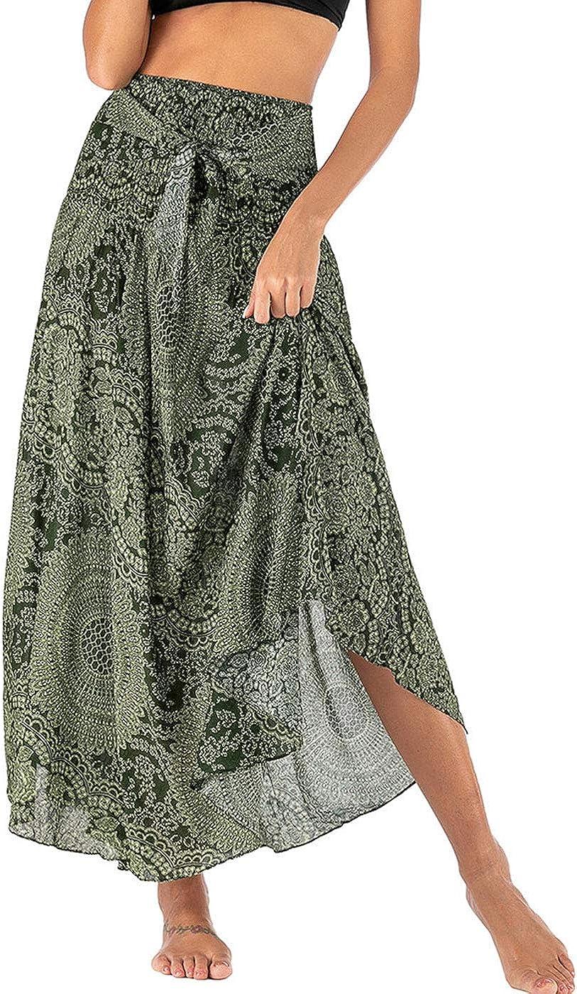 Max 90% OFF FEOYA Women's Flowy Very popular! Bohemian Dress Gypsy Long Print Skirt Maxi S