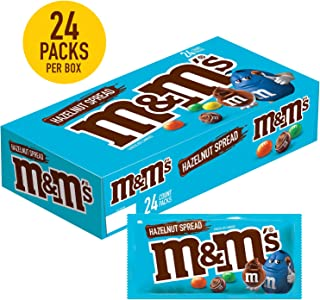 M&M'S Hazelnut Spread Full Size Chocolate Candy Packs, 1.35-Ounce Pouch 24-Count Box