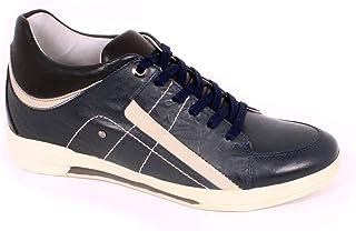 Max Denegri Zapato Casual Street Azul 7cms De Altura