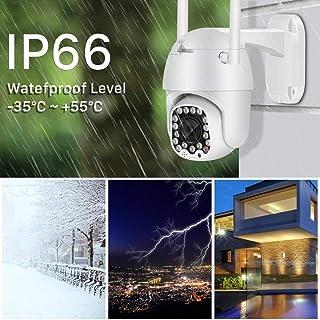 Cámara de seguridad cámara domo de alta velocidad 1080P IP con seguimiento automático la cámara de seguridad de red Wifi 2MP con zoom 4x for interiores y exteriores-1080P_NO_SD_Card_white Cámara in