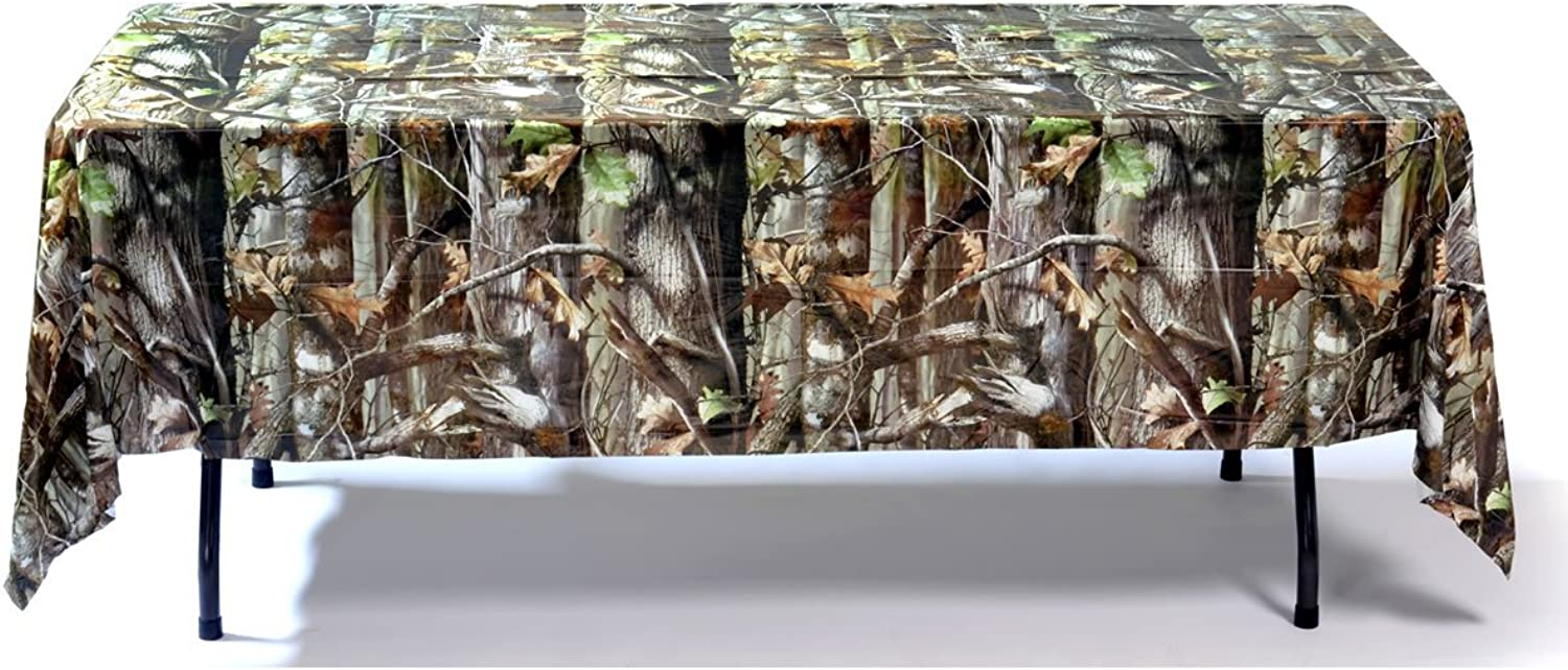 Havercamp Next Camo Party Supplies Heavy Duty 54In X 108 In Plastic Tablecover