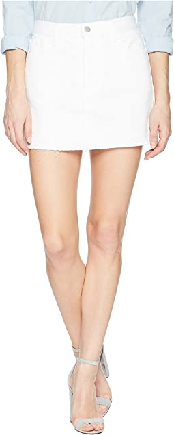 J Brand - Bonny Mid-Rise Mini Skirt in White