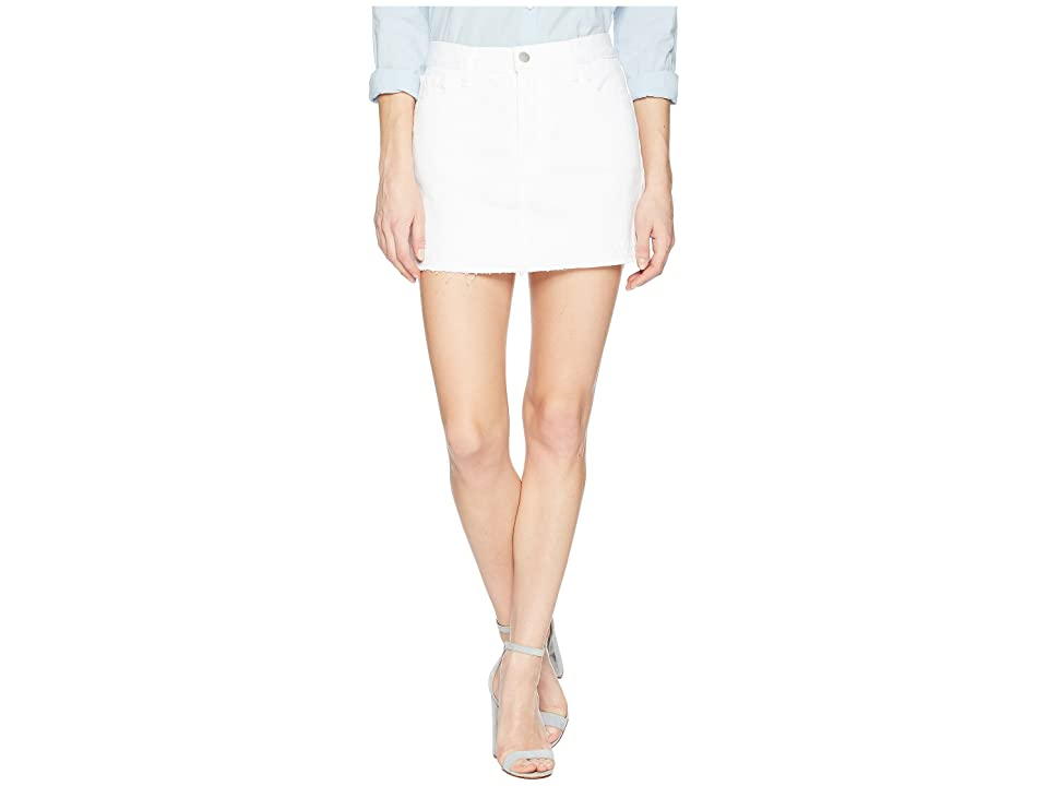 J Brand Bonny Mid-Rise Mini Skirt in White (White) Women's Skirt