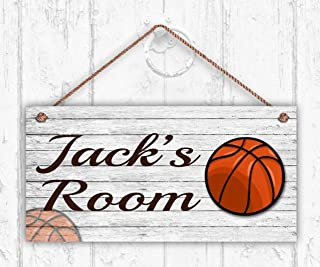 MAIYUAN Basketball Sign, Rustic Sports Room Sign,...