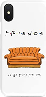 Friend's Orange Couch Phone Durable Strong Cover Case for Apple iPhone 6/6s, 6+/6s, 7/8, 7+/8, X, XR, XS, XS Max (iPhone Xs Max)