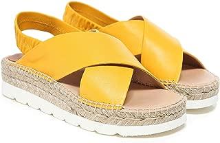 Kanna Women's Sofia Espadrille Sandals Yellow